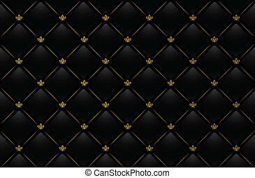 Vector black leather background