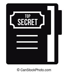 Notepad icon, simple style - Notepad icon. Simple...