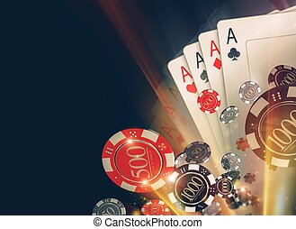 Casino Poker Chips Backdrop - Casino Poker Chips Background...