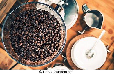 Fresh Espresso Coffee Beans