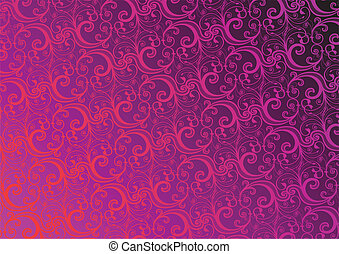 Vector floral wallpaper - Vector pink floral wallpaper