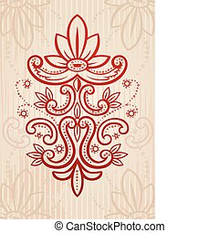 Vector illustration of a red and be