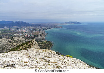 Crimean coast, view from the mountainside.