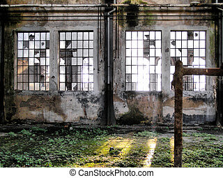 Abandoned factory - Ruins of abandoned factory architecture...