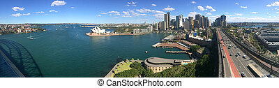 Panoramic view of Sydney skyline in New South Wales,...