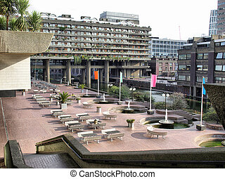 Barbican, London - The Barbican Centre in London, England,...