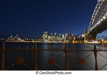Sydney skyline at dusk - Landscape view of Sydney skyline...