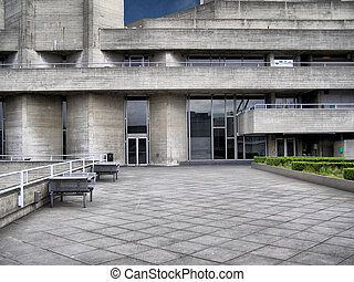 National Theatre, London - The Royal National Theatre in...