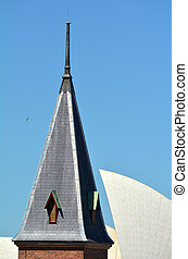 Sydney New South Wales Australia - Old and New, The tower of...