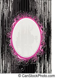 Vector black and pink frame