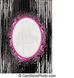 Vector black and pink frame - Vector illustration of black...