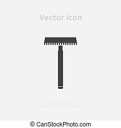 Razor icon isolated on background. Vector illustration
