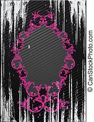 Vector black grunge frame