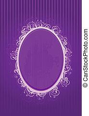 Vector illustration of violet frame