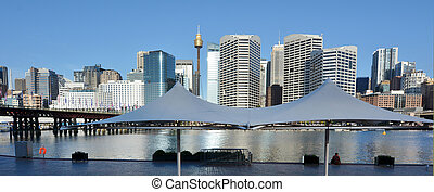 Cityscape of Darling Harbour Sydney New South Wales...