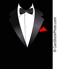 Vector illustration of elegant suit - Vector illustration of...