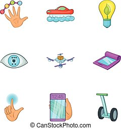 Innovation icons set, cartoon style - Innovation icons set....