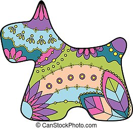 scottish terrier colorful silhouette - Vector scottish...