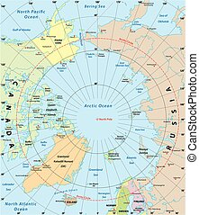 arctic map - arctic vector map