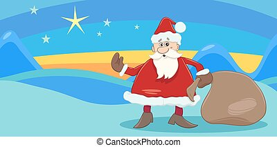 greeting card with santa