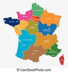 the new regions of france since map - Administrative map of...