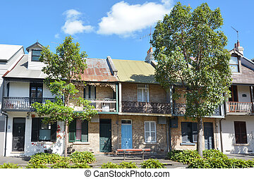 Victorian Terraced houses in Sydney Australia - Victorian...