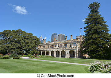 The Government House in Sydney Australia