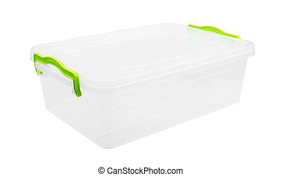 Plastic container for food isolated on white