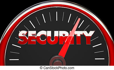 Security Safety Danger Level Rising Speedometer 3d...