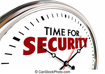 Time for Security Safety Protection Clock 3d Illustration