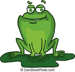Cute frog cartoon collection stock vector illustration