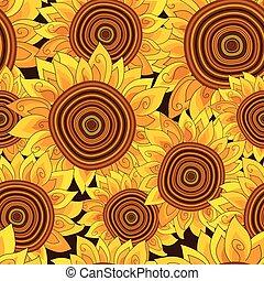 Vivid floral seamless pattern