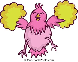 Happy chicken cartoon character for kids design