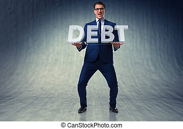 Man struggling with high debt