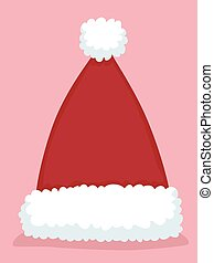 Santa hat - Vector Illustration of Santa hat