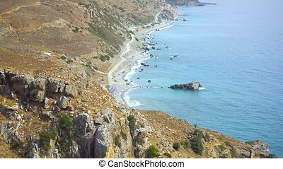 Palm beach Preveli in Crete Greece - beautiful palm beach...