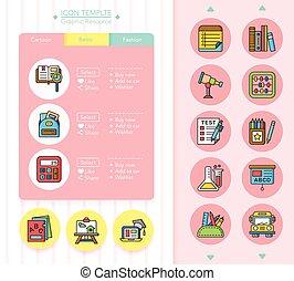 icon set school vector