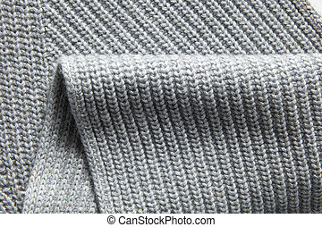 Closeup macro texture of knitted cotton waffle fabric