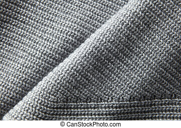 gray knitted jumper material texture - A full page close up...