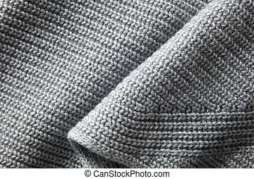 Background of the knitted fabric in the fold