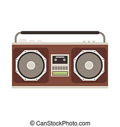 Cassette Tape Recorder - Retro tape recorder vector...