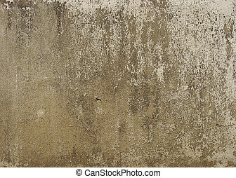 brown gray beige dirty worn wall with peeling paint...