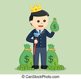 modern business princess with lot of a money
