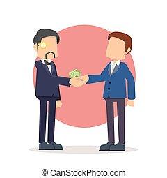 businessman bribing