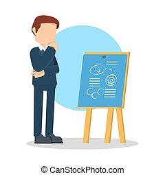 businessman making master plan