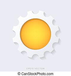 Orange vector 3d web button
