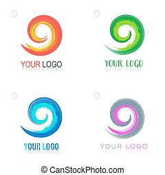 Spiral vector logo design collection
