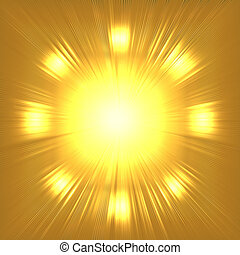 Abstract gold suny background - Abstract gold sunny...