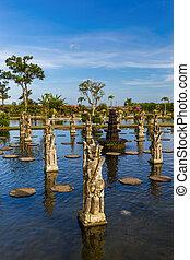 Water Palace Tirta Ganga - Bali Island Indonesia - Water...