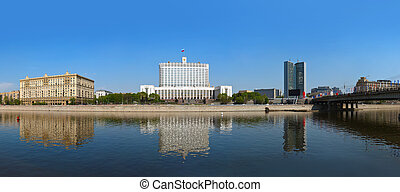 Moscow Panorama - White House - center of Russian government - Russia